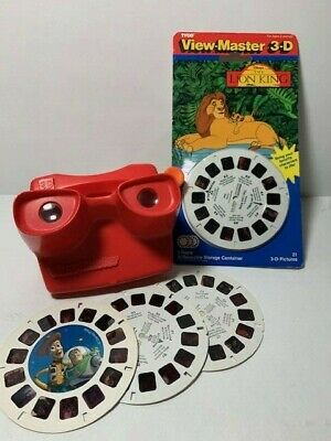 """Vintage 3D Viewmaster & NEW Lion King (1994) & Toy Story """"2""""discs 3"""