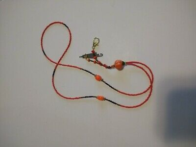 Scissors Chatelaine Autumn with Pumpkin and dark orange beads
