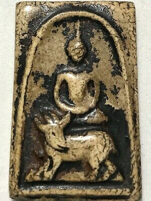 PHRA LP SUANG RARE OLD THAI BUDDHA AMULET PENDANT MAGIC ANCIENT IDOL#26