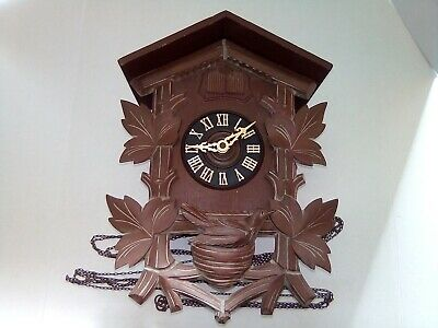 Hubert Herr Cuckoo and Quail Black Forest Cuckoo Clock FOR REPAIR