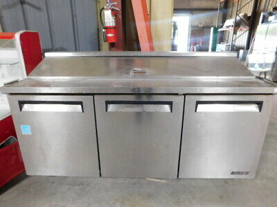 Turbo air 72in refrigerated prep table with new compressor