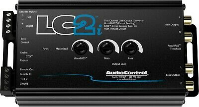 AudioControl LC2i Black 2 Channel Line Converter with AccuBASS