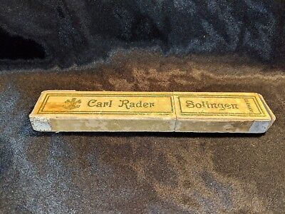 VINTAGE CARL RADER SOLINGEN GERMANY STRAIGHT RAZOR BOX Empty