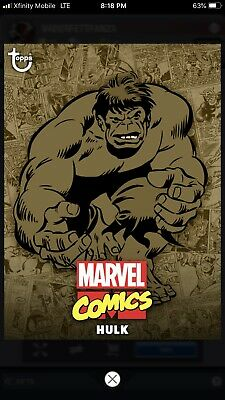 Topps MARVEL COLLECT Digital Card Trader COMIC CLASSIC WAVE 1 SEPIA - HULK