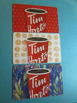2019 Tim Hortons Gift Card Set Cup Of Coffee No Value Fd-66733-34-35 New Canada
