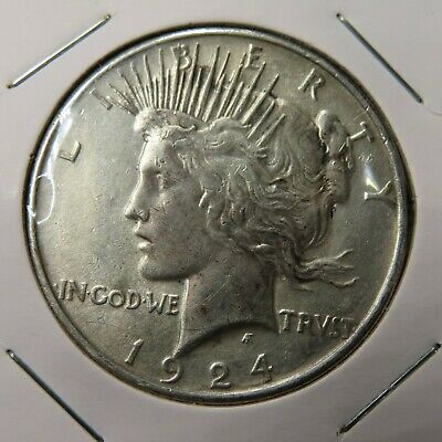 1924 P Philadelphia Mint Peace 90% Silver Dollar (KT)