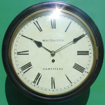 "Whitehorn Hampstead Antique 8 Day Ebonised 12"" Fusee Dial Clock"