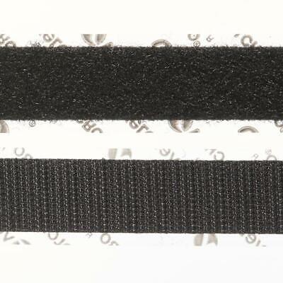VELCRO® Stick On - Black - 50cm X 19mm (1.9cm) - Self Adhesive - New