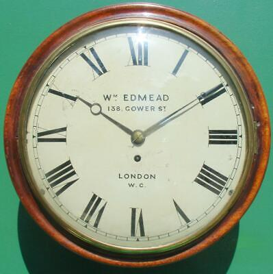 William Edmead 138 Gower St London W.c. Antique English Mahogany Convex Fusee Di