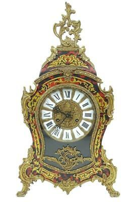 Large Vintage Italian 8 Day Boulle Type Rococo Mantle Clock