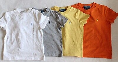 New Polo Ralph Lauren Toddler Boy's Short Sleeve Classic Solid Crew Neck Shirt