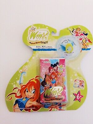 Rare Winx Magical Fairy Game Scented Glitter Cards Yellow Sun Ring Fairy Wings