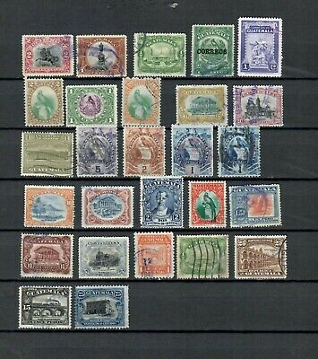 Guatemala Latin America Used Old Unchecked Stamps Lot (Guat 264)