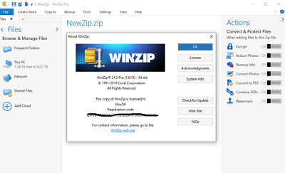 ✔️ Corel Winzip Pro 24 ✔️ Official License ✔️ Windows for 5 PC ✔️Instant Downlod
