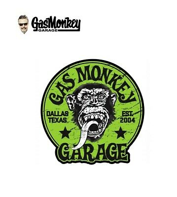 Gas Monkey Garage Sticker. Vinyl Decal. Gas Monkey Sticker120mm Dia X 2 off