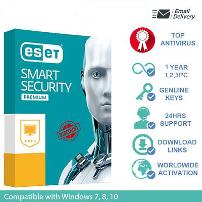 Eset SMART SECURITY PREMIUM 2019 FOR 1-2-3PC / 1YEAR (ACTIVATION CODE)