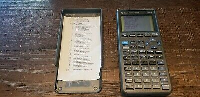 Texas Instruments TI82 STATS Graphic Calculator For Maths & Science W/Batteries