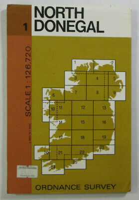 1978 Old Vintage OS Ordnance Survey of Ireland Half-inch Map 1 North Donegal