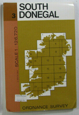 1977 Old Vintage OS Ordnance Survey of Ireland Half-inch Map 3 South Donegal