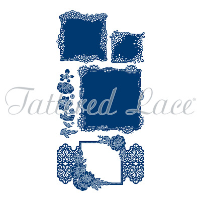 Tattered Lace Antique Lace Square 3D Decoupage Collection Cutting Dies 454341
