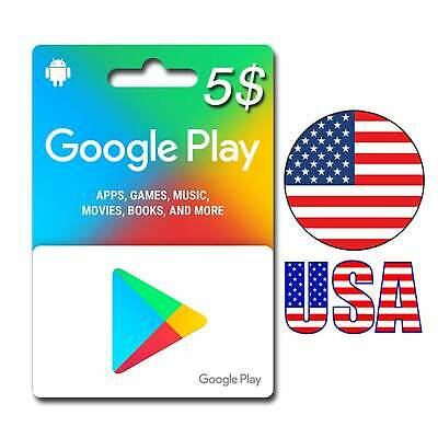 $5 Google PLAY Store USA Gift Card Email - 5 Dollar Google Play Fast Delivery