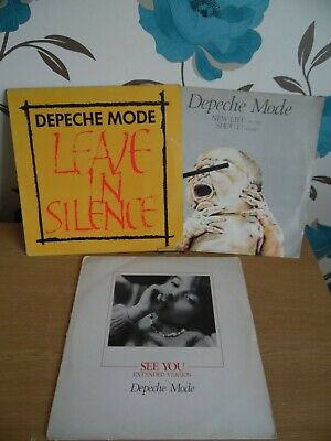 Depeche Mode 3 Number UK 12 inch vinyl singles Used Condition Pictured