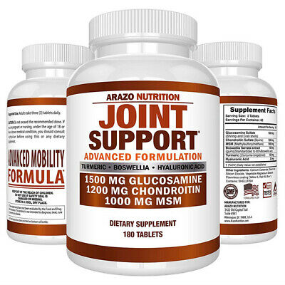 Arazo Nutrition Joint Support with Glucosamine Chondroitin MSM 180 Tablets