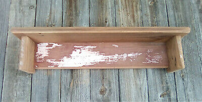 Barn Wood Rustic Country Primitive Wall Shelf Barn Red Farm House Patina N43