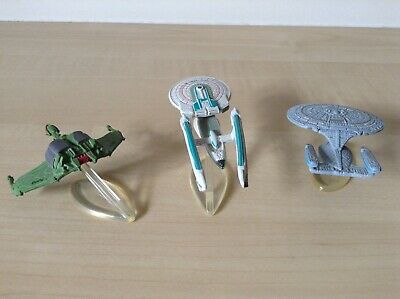 Star Trek Micro Machines 1X-Enterprise 1701 detachable,1701B,Dark Bird Of Prey.