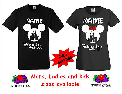 Personalised Disney Land Paris France holiday vacation T-shirts 2019 (or 2020)
