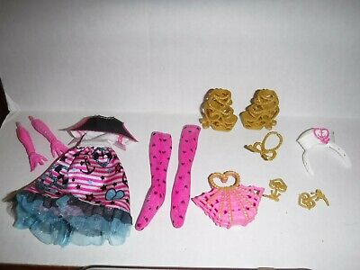 Monster High ShriekWrecked Nautical Ghouls Draculaura Doll Outfit & Shoes