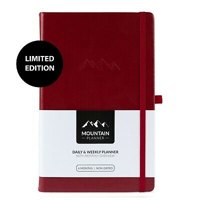Mountain Daily Planner Undated Weekly Monthly Agenda Goal Notebook Hardcover