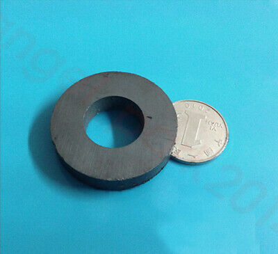 Black Strong 100mmx20mm Round Disc Magnet Ferrite Y30BH Magnets Hole:45mm