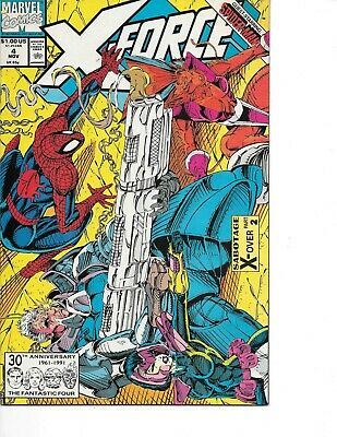 X-Force #4  Spider-Man x-Over Rob Liefeld  1991 Marvel