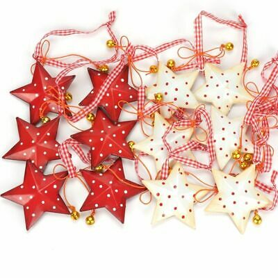 Christmas Decoration Hanging Star Metal Bell Tree Ornaments Home Decor Crafts