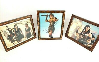 Lucy Lawless Xena Warrior Princess Autographed 8x10 Framed Picture