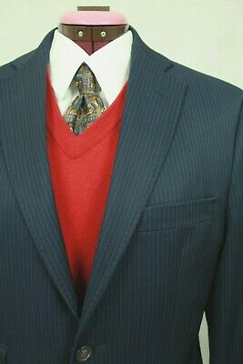 Ted Baker London Endurance 2Pc Suit Men's Blue Pinstriped Size 38S/32S Us Vgc!