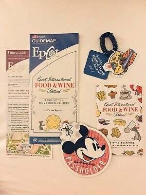 Disney Food and Wine Festival 2019 Annual Passholder Minnie Mouse Magnet Lot NEW