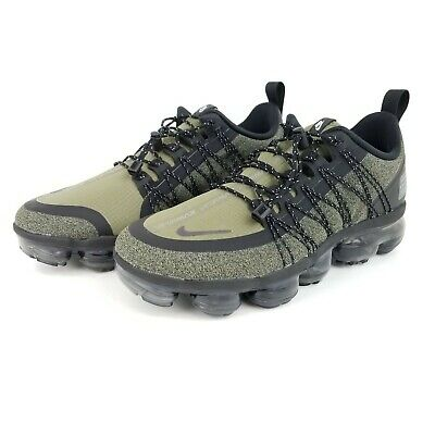 Nike Air Vapormax Run Utility Mens Shoes Olive Green Black AQ8810 201 Size 7, 15