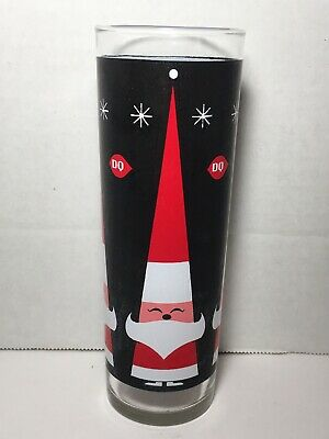 Vintage Dairy Queen DQ Holt Howard Christmas Tumbler Glass Cup Santa