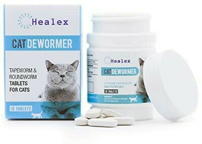 Healex 10 Tablets Cat Intestinal Cleanse Cat Dewormer Alternative