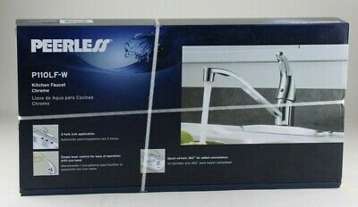 NEW Peerless P110LF-W Single-Handle Kitchen Sink Faucet Chrome