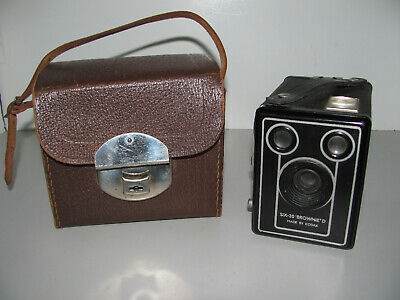 Kodak Brownie Six 20 Model D Film Camera And Case In Good Vintage Condition