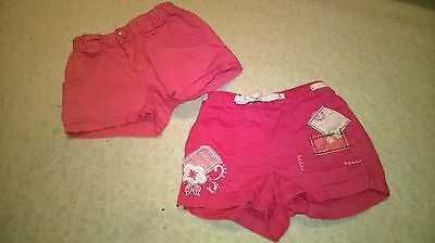 198 2 pairs shorts H&M george size 2-3 years Hello Kitty