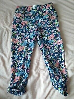 615 next girls flower summer trousers size 6 years