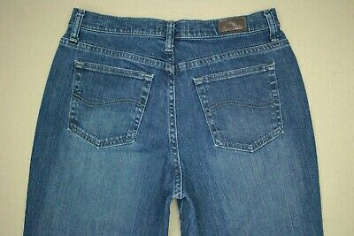 Lee Relaxed Boot Cut At The Waist Jeans Women's Size 10 Medium Wash Denim