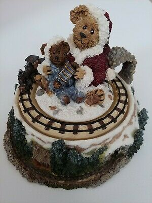 Ornament for Son New Christmas Bear with Train Boyds Bears Push Sonny