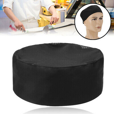 Catering Hat Professional Chefs Mesh Top Skull Cap Restaurant Cook Kitchen Chef