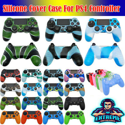 Camo Soft Silicone Protect Case Skin Grip Cover For Playstation 4 PS4 Controller