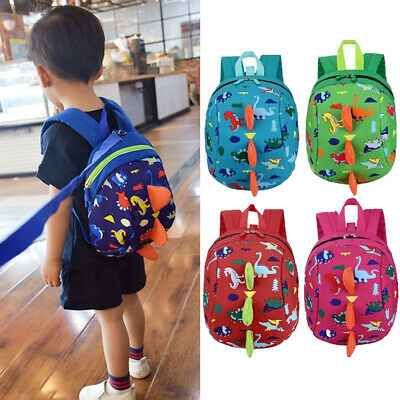 AU Infant Baby Anti-Lost Dinosaur Backpack Safety Walking Harness Leash For Kids